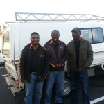 Ricky, Mbeki & Mabaso (technicians) visiting us for 2nd time