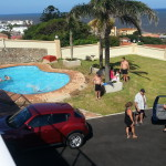Van Deventer Couple with friends enjoying the new swimming pool