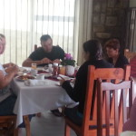 Suzette Swanepoel & family enjoying a scrumptious breakfast
